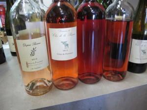 Bouteille de vin rosé