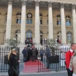 Palais de la bourse de Paris entrée