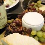 Vin, fromage et raisins