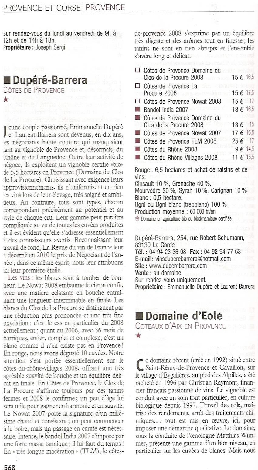 Le guide vert 2011