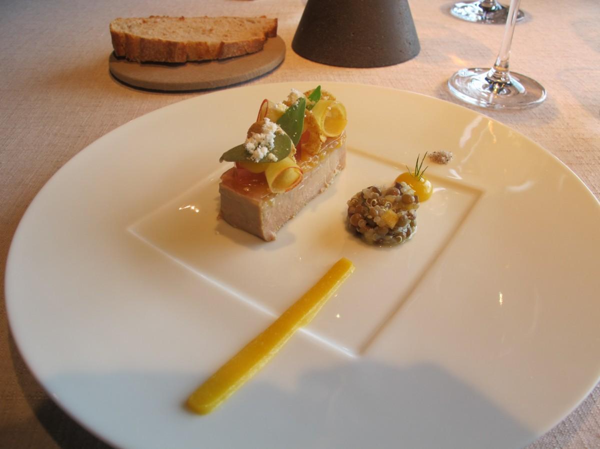 entrée au foie gras